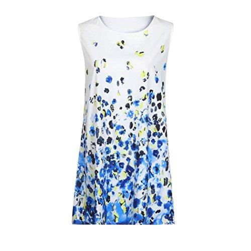 vintage donna vestiti estivi M da estate abito donna Mini Vestiti corte maniche stampato Sysnant lunghi Abito da boho corto a BxfnY4q