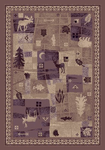 (Milliken Signature Collection Deer Trail Rectangle Area Rug, 5'4