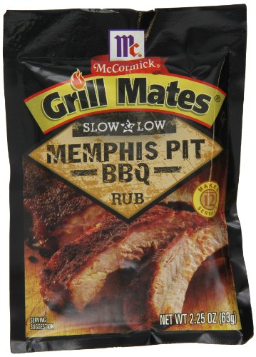 Grill Mates Slow and Low Memphis Pit BBQ Rub Marinade, 2.25-Ounce (Pack of 10)