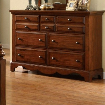 Dark Oak Finish Bedroom Chest - 6
