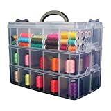 Bins & Things Stackable Storage Container with 30 Adjustable Compartments, Clear, X-Large offers