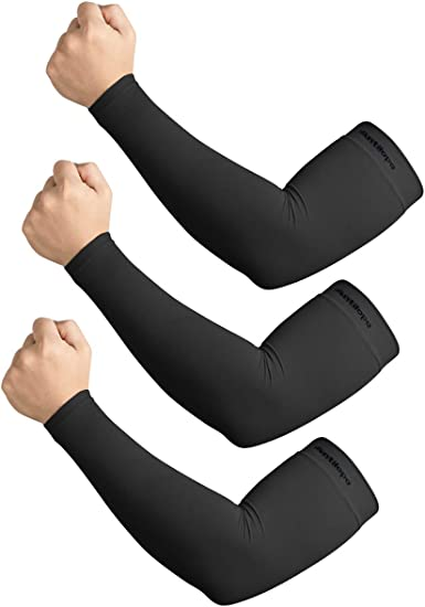 1 Pair UPF 50 Arm Sleeves UV Protection Compression Sun Sleeves for Men Women