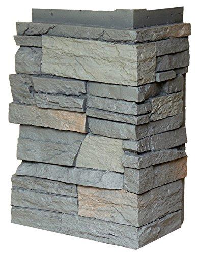 NextStone Country Ledgestone Faux Polyurethane Stone Outside Corner  Appalachian Gray  4 Pack