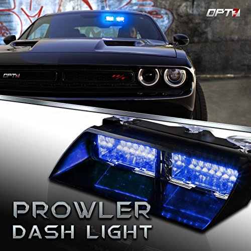 Best emergency vehicle lights amazon prowler emergency dash light true daytime visible led 18 strobe patterns for law enforcement warning first response fire security and traffic control aloadofball Image collections