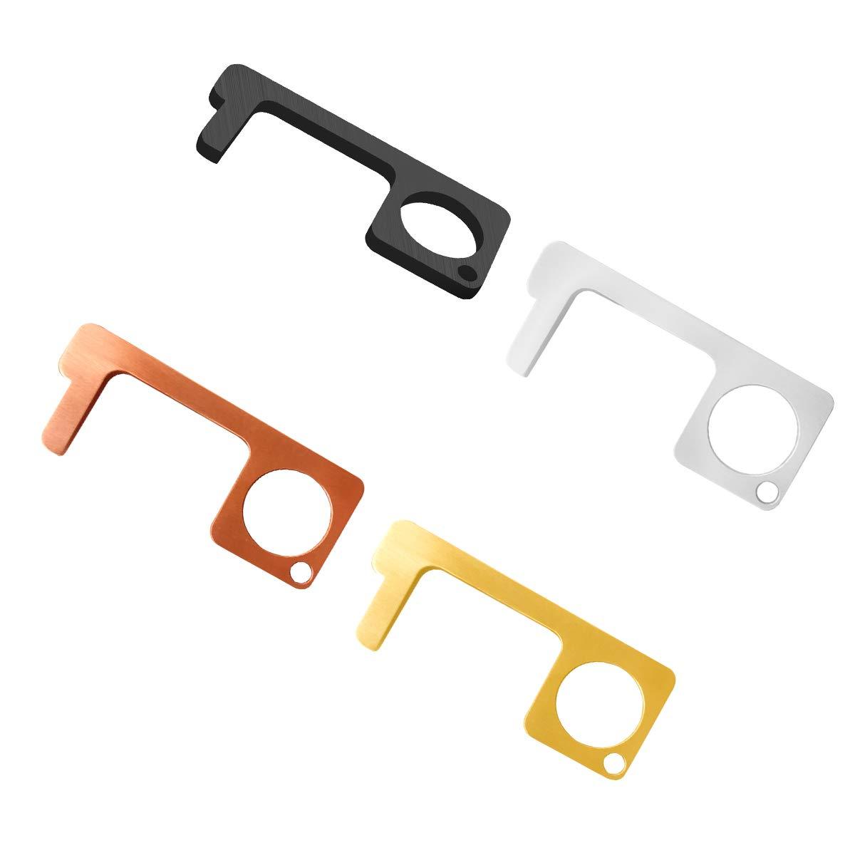 iFCOW Non-Contact Door Opener Portable Zinc Alloy Press Elevator Tool Door Handle Key