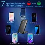 Seneo Note8 Fast Wireless Charger, Qi Wireless Charger for Samsung Galaxy S8 S8 Plus S7 S7 Edge, Standard Charge for iPhone X / 8 / 8 Plus