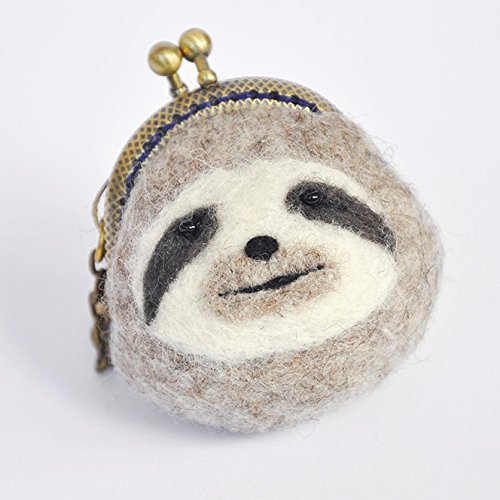 Kiss lock Sloth coin purse, animal coin pouch, animal coin porse, funny bag, clasp purse, frame pouch