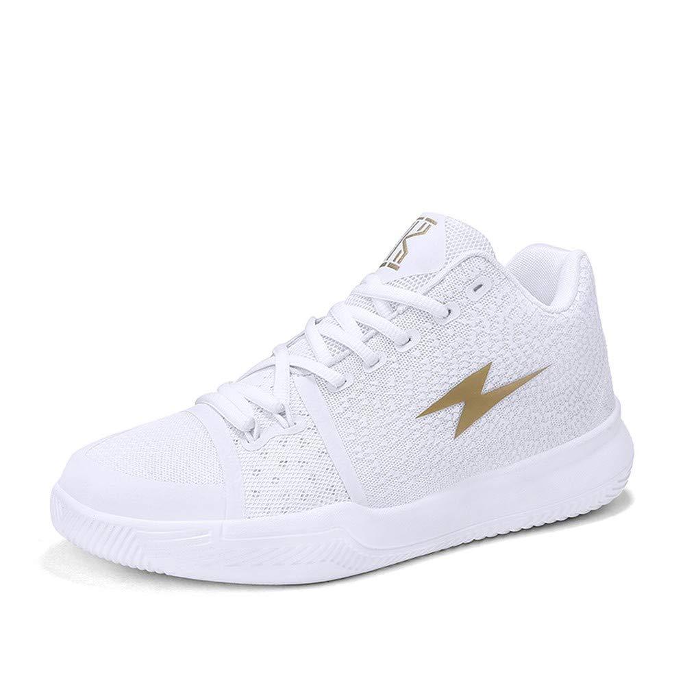 White 1802 39 BETIY Men's hightop Boots Large Size wearResistant ShockAbsorbing Basketball shoes