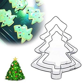 PlenTree cortador de galletas de Navidad, 1 juego de moldes de acero inoxidable con forma de copo de nieve, para decoración de tartas, ...