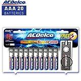 ACDelco AAA Super Alkaline Batteries with Bonus LED Keychain Flashlight, 20-Count