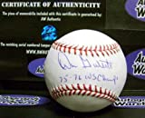 Don Gullett autographed baseball (Cincinnati Reds World Series Champion) inscribed 75 76 WS Champs AW Certificate of Authenticity Hologram OMLB