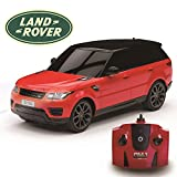 CMJ RC CarsTM Range Rover Sport Official Licensed Remote Control Car 1:24 for Children and Adults alike with Working LED Lights, Radio Controlled Supercar (Red)