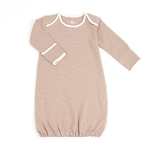 Tadpoles Organic Cotton Sleep Gown, Cocoa, 0-6 Months (Gown Henley)