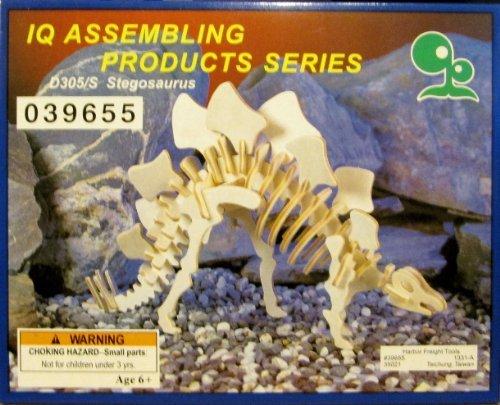 IQ Assembling Products Series Stegosaurus (Wooden 3-D Puzzle)