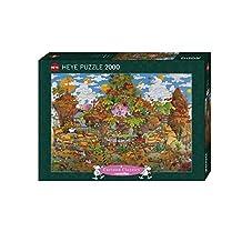Heye - Heye-29360 - Puzzle Classique - Train - Mordillo - 2000 Pièces