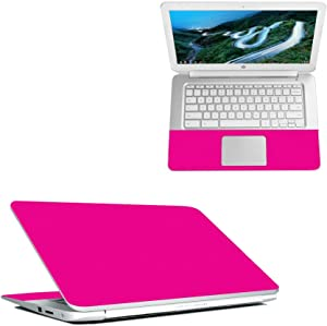 """Mightyskins Skin Compatible with Hp Chromebook 14"""" (2018) - Solid Hot Pink   Protective, Durable, and Unique Vinyl Decal Wrap Cover   Easy to Apply, Remove, and Change Styles   Made in The USA"""