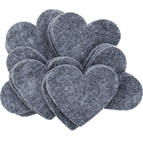 Playfully Ever After 3 Inch Charcoal Gray 28pc Felt Hearts