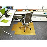 Bamboo Deluxe Roll-Up Chairmat, 44   x 52  , with lip