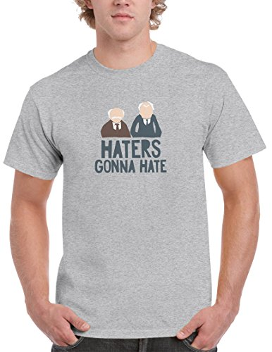 BBT Mens Muppets Statler Waldorf Haters Gonna Hate T-shirt XL Sport (Bbt Shirts)