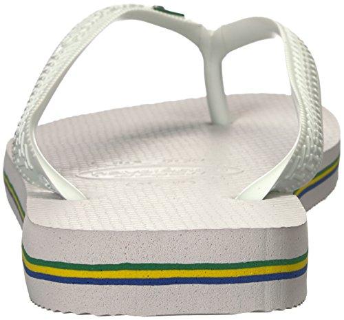 Havaianas Menns Brasil Sandal, Hvit, 43/44 Br (11/12 M Oss)