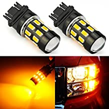 JDM ASTAR Super Bright 5730 Chipsets 3056 3156 3057 3157 LED Bulbs with Projector,Amber Yellow