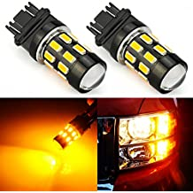 JDM ASTAR Super Bright 5730 Chipsets 3056 3156 3057 3157 LED Bulbs with Projector,Amber Yellow ( Only work for standard socket , not for ck socket)