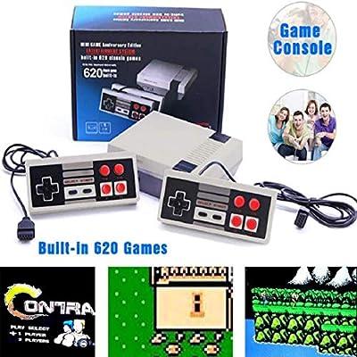 NQMEKOF Retro Game Console PIug Play Classic Game 620 Hundreds Console, Mini Retro Video Video Game Game: Toys & Games