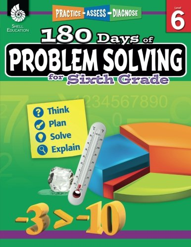 180 Days of Problem Solving for Sixth Grade - Build Math Fluency with this 6th Grade Math Workbook (180 Days of Practice)