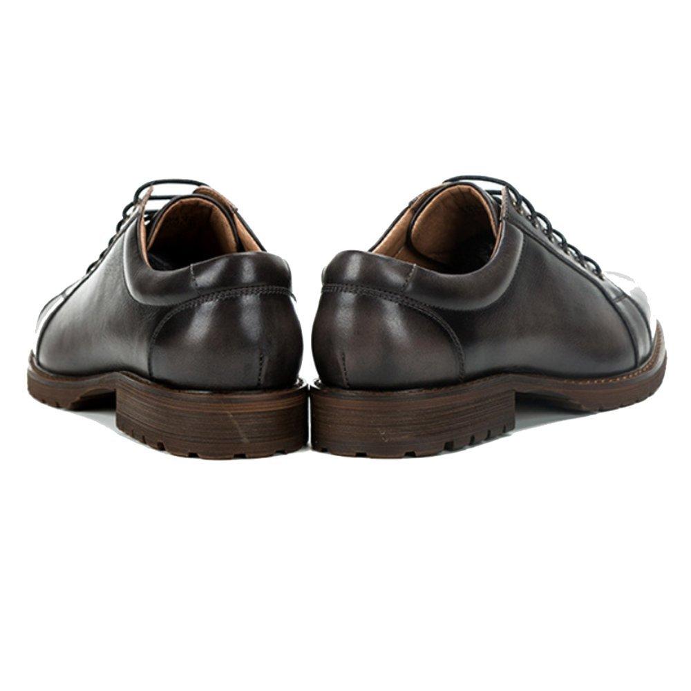 ZPJSZ Männer England Lässig Mode Geschäft Retro Jugend Jugend Jugend Handarbeit Spitze Lederschuhe,schwarz-38 393b5e
