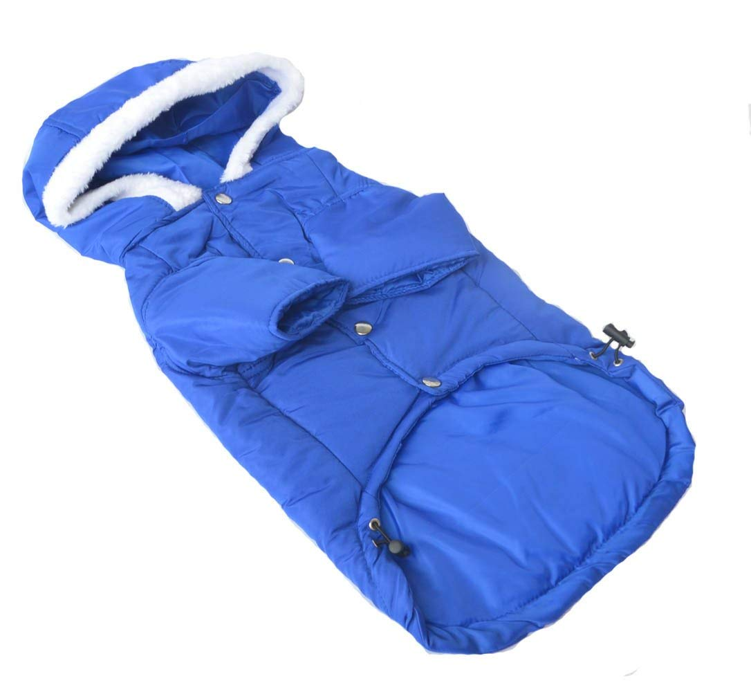 bluee Xl bluee Xl LLYU Pet Clothing Large Dog Coat Hooded Jacket Winter wear Large Dog pet Warm Clothes (color   bluee, Size   XL)