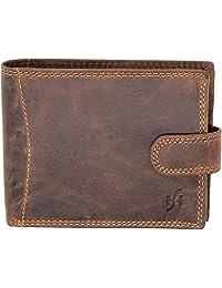 StarHide RFID Blocking Billfold Wallet For Men Distressed Leather Purse 1065