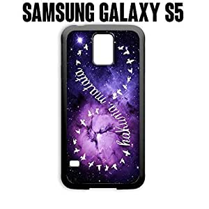 Phone Case Colorful Nebula for Samsung Galaxy S5 Rubber Black (Ships from CA)