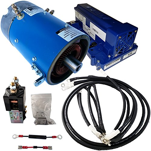 Golf Cart Motors - Club Car Motor & Controller High Torque Combo for Series(5K-0) Carts - 15 mph & +70% Torque - 170-004-0002A Motor w/ 500 Amp Controller(Green Option) - includes Solenoid & Wire kits by D&D Motor Systems