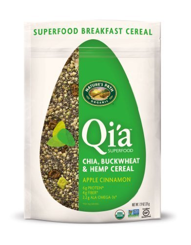 (Nature's Path Qi'a Chia Buckwheat and Hemp Cereal, Apple Cinnamon, 7.9-Ounce by Nature's Path)