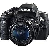 Canon EOS 750D SLR-Digitalkamera (24 Megapixel, APS-C CMOS-Sensor, WiFi, NFC, Full-HD), Kit inkl. EF-S 18-55 mm is STM Objektiv schwarz