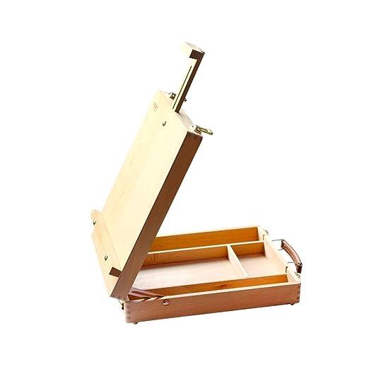Caballete - Caja de madera, caja de dibujo de mesa de madera con ...