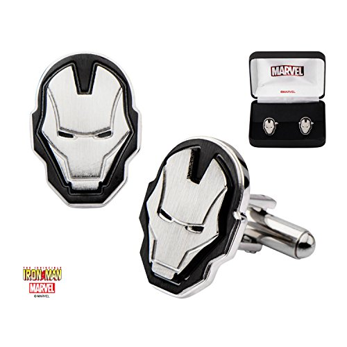 Marvel Iron Man Mask Stainless Steel Cufflinks w/Gift Box by Superheroes Brand