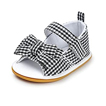 C&H Summer Infant Baby Girls Soft Anti-Slip Princess shoes Sandals(0-2years) old) (13cm/5.11, 2420-Black)