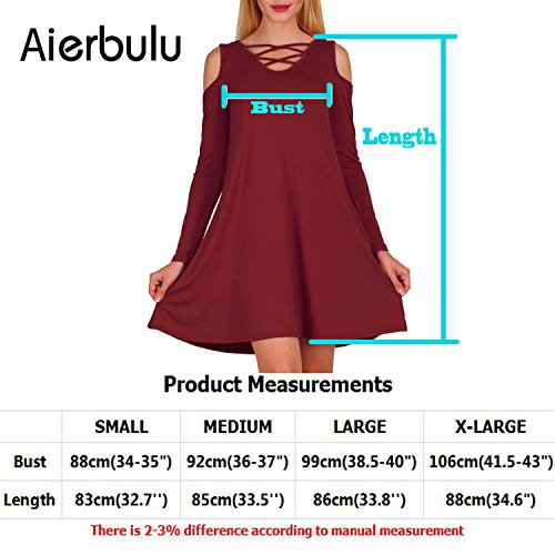 Shoulder Off Casual Dresses Tshirt Wine Long Cross Women's Aierbulu Neck Sleeve Red Dress qIO1z