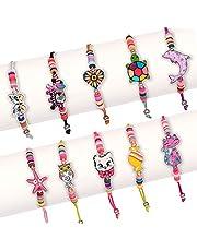 SAVITA10 Pcs Little Girls Bracelet, Cute Animal Jewelry Multicolor Bracelets Girls Friendship Bracelets for Birthday Party Role Play Carnival