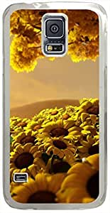 Sun-Flower-World Cases for Samsung Galaxy S5 I9600 with Transparent Skin