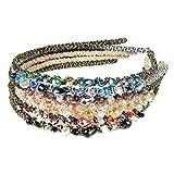 HipGirl Girls / Women Jewel Headbands (7pc Set Bejeweled Sparkle Headbands)