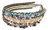 Headbands Best Deals - HipGirl Girls / Women Jewel Headbands (7pc Set Bejeweled Sparkle Headbands)