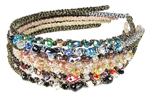 - Hair Bands for Women's Hair Style, Headbands for Teen Girls-HipGirl Glitter Sparkle Headbands for Women. Fashion Headbands for Women, Girls Headbands (7pc Bejeweled Rhinestone Headband)