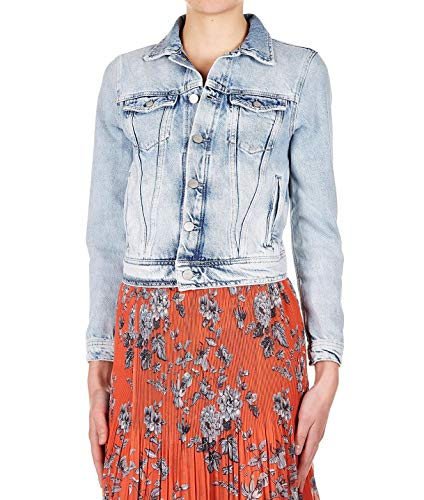 (Pepe Jeans Women's Pl400654md0000 Blue Cotton Jacket)