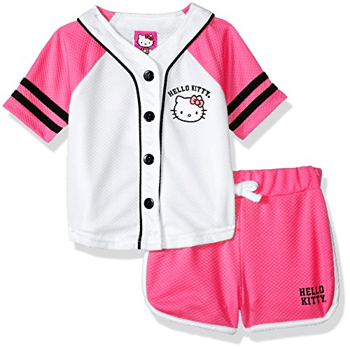 Fashion Embellished - Hello Kitty Baby Girls' Short Set with Embellished Fashion Top, Pink/White 18 Months