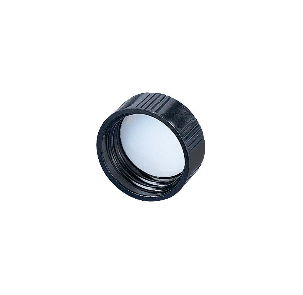 Kimble Phenolic Black Screw Cap with Pulp/Vinyl Liners, Cap Size 28-400 (Case of 144)