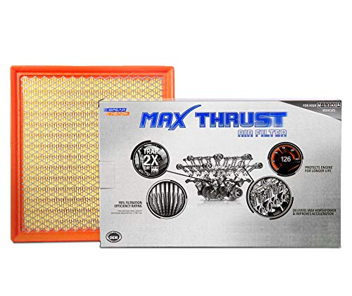 2017 Nissan Frontier Xterra Engine - Spearhead MAX THRUST Performance Engine Air Filter For Low & High Mileage Vehicles - Increases Power & Improves Acceleration (MT-440)