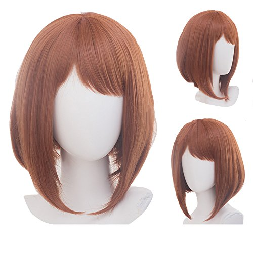 Price comparison product image My Hero Academia Boku no Hero Akademia Ochako Uraraka Brown Cosplay Wig (Uraraka Wig)