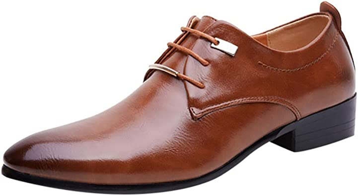 Chaussures Homme, Cuir Pointu Chaussures
